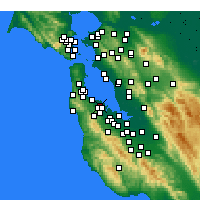 Nearby Forecast Locations - San Mateo - mapa