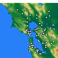Nearby Forecast Locations - San Rafael - mapa