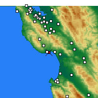 Nearby Forecast Locations - Santa Cruz - mapa