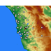 Nearby Forecast Locations - Santee - mapa