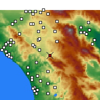 Nearby Forecast Locations - Temecula - mapa