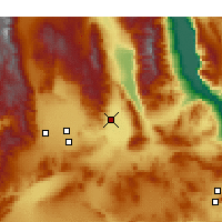 Nearby Forecast Locations - Trona - mapa