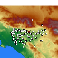 Nearby Forecast Locations - Upland - mapa