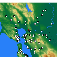 Nearby Forecast Locations - Vallejo - mapa
