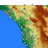 Nearby Forecast Locations - Vista - mapa