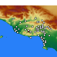 Nearby Forecast Locations - Westlake Village - mapa